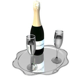 champagne 3d object free artlantis objects download