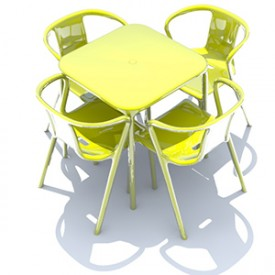 Table and Chairs Mod 3D Object | FREE Artlantis Objects Download