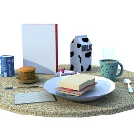 Breakfast 3d Object Free Artlantis Objects Download