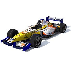 F1 Renault RS 3D Object | FREE Artlantis Objects Download