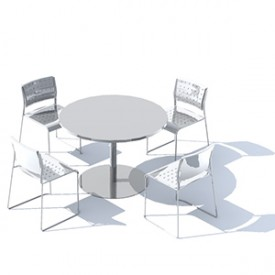 Cafe Layout 3D Object | FREE Artlantis Objects Download