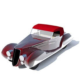 Delahaye 165 1938 3D Object | FREE Artlantis Objects Download