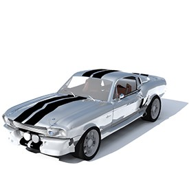 Mustang Shelby GT500 3D Object | FREE Artlantis Objects Download