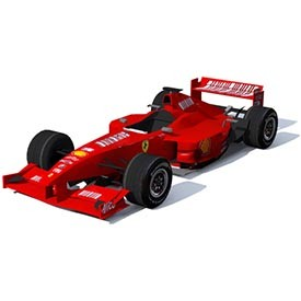 F1 Ferrari 3D Object | FREE Artlantis Objects Download