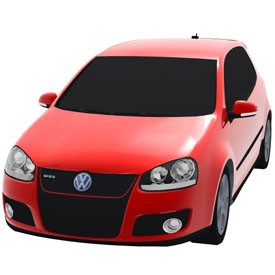 Volkswagen Golf GTI 3D Object | FREE Artlantis Objects Download