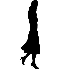 Walking Lady Billboard   Artlantis Billboards FREE Download