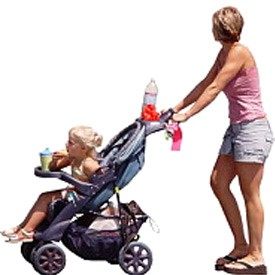 mother with pram Billboard | Artlantis Billboards FREE Download