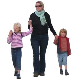 Kids and lady Billboard   Artlantis Billboards FREE Download