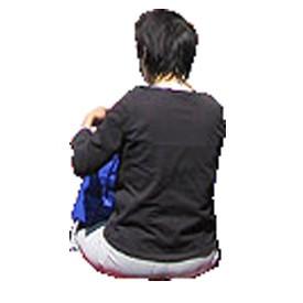 Woman sitting Billboard   Artlantis Billboards FREE Download