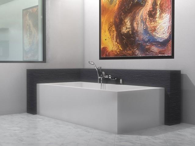 Vasca Da Bagno Vista : Vasca da bagno freestanding a pavimento con telaio a vista in