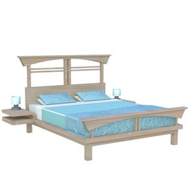 Bed 3D Object | FREE Artlantis Objects Download