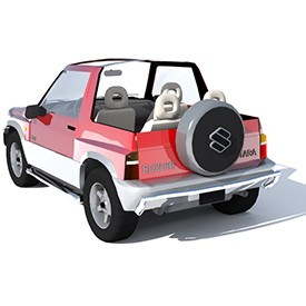 Suzuki Vitara Cabrio 3D Object | FREE Artlantis Objects Download
