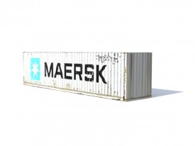 maersk container 3D Object | FREE Artlantis Objects Download