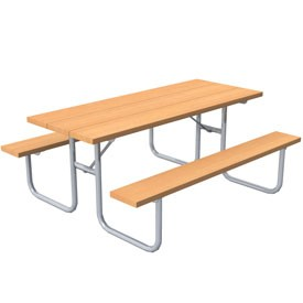 Table + bench 3D Object | FREE Artlantis Objects Download
