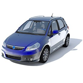 Fiat Sedici 3D Object | FREE Artlantis Objects Download