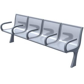 Bench more seats 3D Object | FREE Artlantis Objects Download