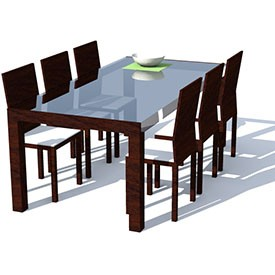 Dining Table 3D Object