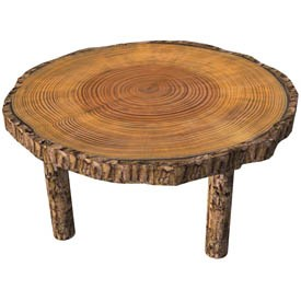 Wood round table 3D Object   FREE Artlantis Objects Download