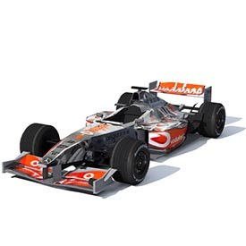 F1 McLaren Mercedes 3D Object | FREE Artlantis Objects Download