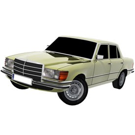 Mercedes-Benz 450SE 3D Object | FREE Artlantis Objects Download