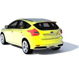 Ford Focus 2012 3D Object | FREE Artlantis Objects Download