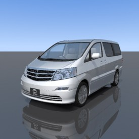 Toyota Alphard 3D Object | FREE Artlantis Objects Download