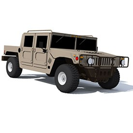Army Hummer H1 2001 3D Object | FREE Artlantis Objects Download