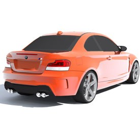 BMW 1 M Coupe 3D Object | FREE Artlantis Objects Download