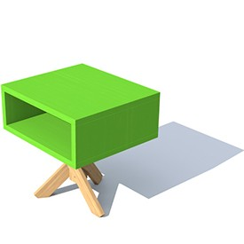 Box table 3D Object | FREE Artlantis Objects Download