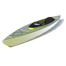 Kayak 3D Object   FREE Artlantis Objects Download