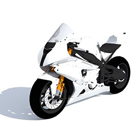 BMW S 1000RR SBK 3D Object | FREE Artlantis Objects Download