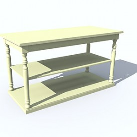 Flamant Mercerie Console 3D Object | Artlantis Objects Download