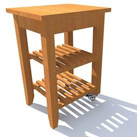 Ikea Bekvaem trolley 3D Object   FREE Artlantis Objects Download