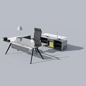 Architect Office Desk Object