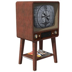 Vintage Television Set 3D Object | FREE Artlantis Objects Download