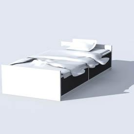 ikea odda bed 3d object free artlantis objects download. Black Bedroom Furniture Sets. Home Design Ideas