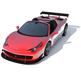 Ferrari 458 Italia Spide 3D Object | FREE Artlantis Objects Download