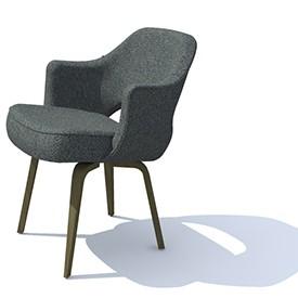 saarinen arm chair 3d object free artlantis objects download