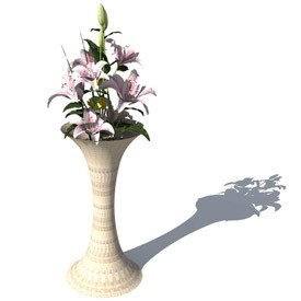Vase 4 3D Object | FREE Artlantis Objects Download