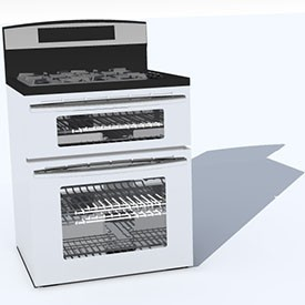 double oven w convection 3D Object | FREE Artlantis Objects Download