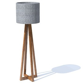 200 Vertical Lamp Tall 3D Object | FREE Artlantis Objects Download