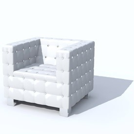 kare arm chair cube 3d object free artlantis objects. Black Bedroom Furniture Sets. Home Design Ideas