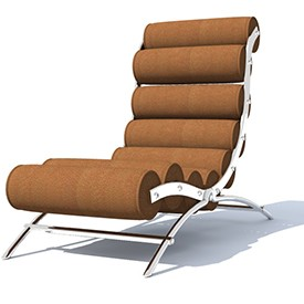 KP Lounge chair 3D Object | FREE Artlantis Objects Download