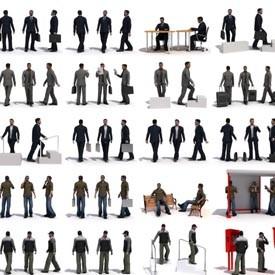 40 3d persons 3d object free artlantis objects download. Black Bedroom Furniture Sets. Home Design Ideas