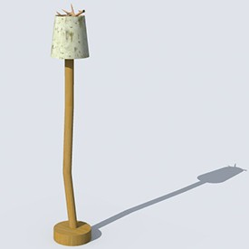 Hand Made Lamp 3D Object | FREE Artlantis Objects Download