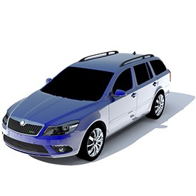 Skoda Octavia RS Combi 3D Object | FREE Artlantis Objects Download