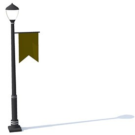 Lamp Post Medieval 3D Object | FREE Artlantis Objects Download