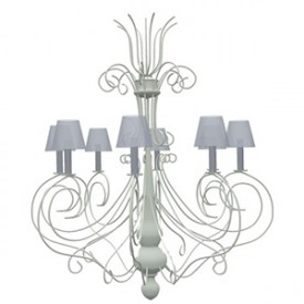 Flamant Chandelier Ladezza Antique 3D Object | Artlantis Objects Download