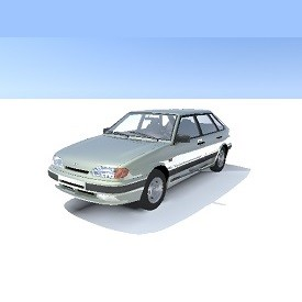 Russian auto VAZ_2114 3D Object | FREE Artlantis Objects Download