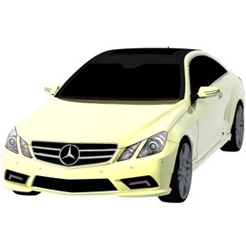 Mercedes E-Class Coupe 3D Object | FREE Artlantis Objects Download